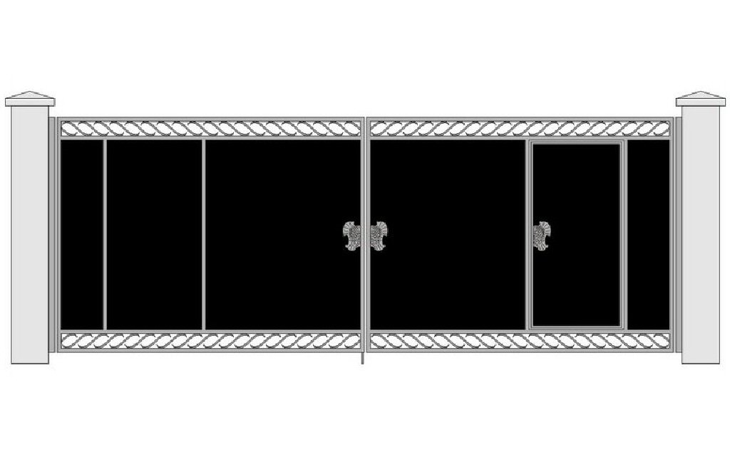 ehskiz-metallicheskih-vorot-s-kovkoj-9