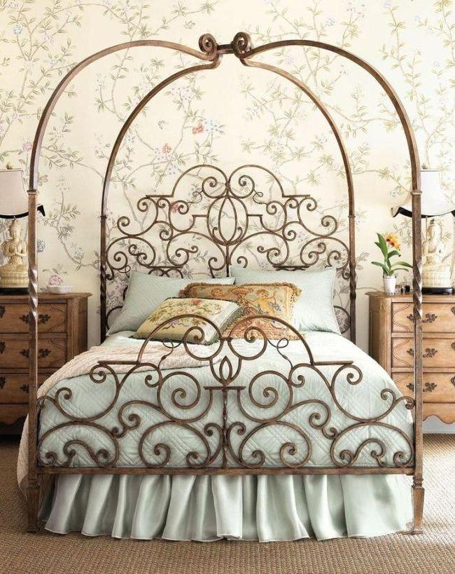 Кованая кровать М24