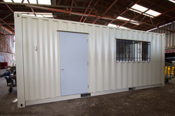 20' Modular Office w/Barred Windows