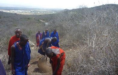 Tanzanian water scarcity village