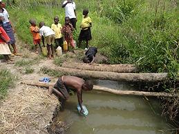 Ugandan open water source