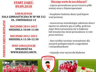 Piłkarskie Przedszkole - Lokalizacja przy SP nr 312 ul. Umińskiego 12