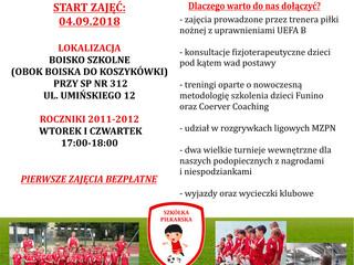 Nabór do Szkółki Piłkarskiej KS Gocław dla roczników 2011-2012