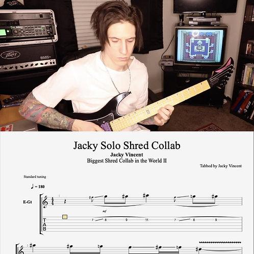 Jacky Solo  // Biggest Shred Collab II // 2018 // Digital Tabs