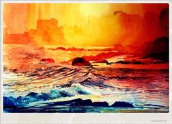 "Vizag sunset (12X16"")"