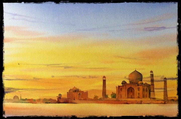 The Taj sunset