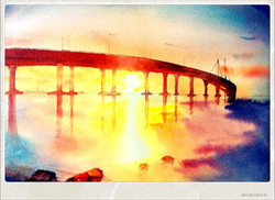 """Morning at the sea link (9"""" X 12"""")"""