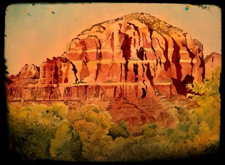 Sedona watercolor (part 2)