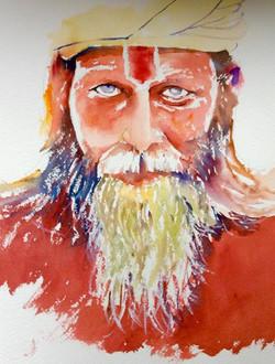 The Indian Sadhu stare