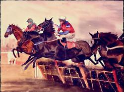 At the horse jumping