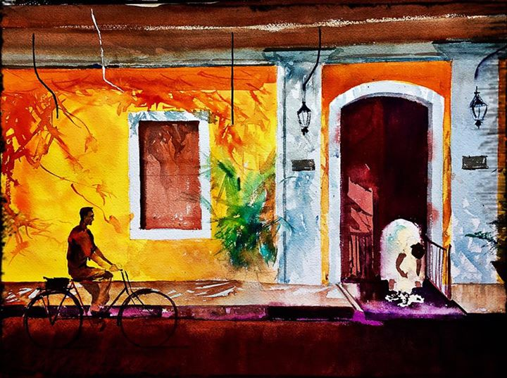Lazy day in Pondicherry (14X20)