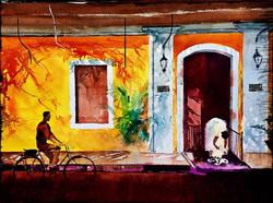 Lazy day in Pondicherry (14X20)