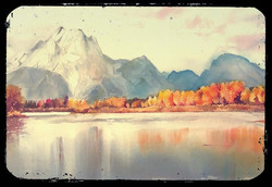 Oxbow bend, wyoming