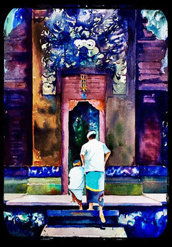 Father and son at Bali