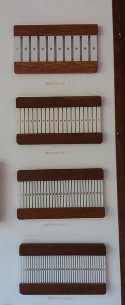 pentes fabricados nos padrões 1:1, 2:1, 3:1, 4:1