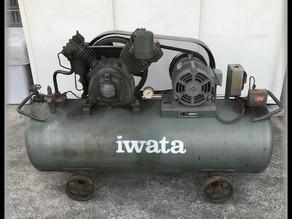 岩田塗装工業 イワタ TP-37NB コンプレッサー5馬力 買取しました。