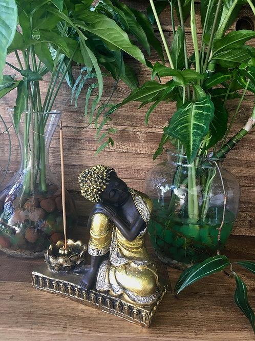Incensário Buda Dourado