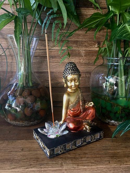 Incensário Buda Flor de Lótus
