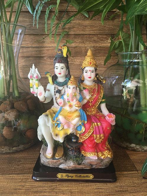 Deuses Shiva, Parvati e Ganesha