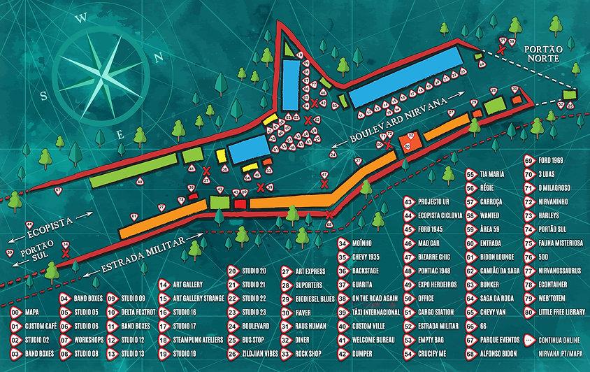 Mapa Tour - Nirvana Studios