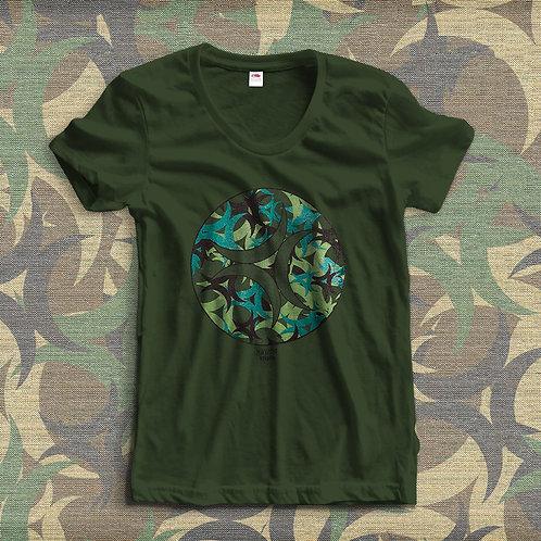 T-Shirt Camuflado Nirvana Studios Mulher