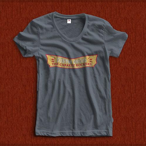 T-Shirt Custom Circus Gold Mulher