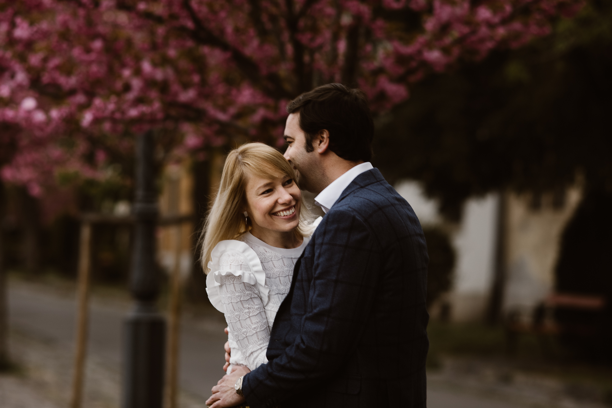 pre-wedding photoshoot Budapest in Lookslikefilm style | The Wedding Fox