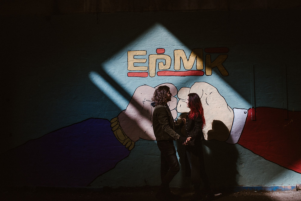 graffity street art pre-wedding photoshoot rad couple by The Wedding Fox International Wedding Photography