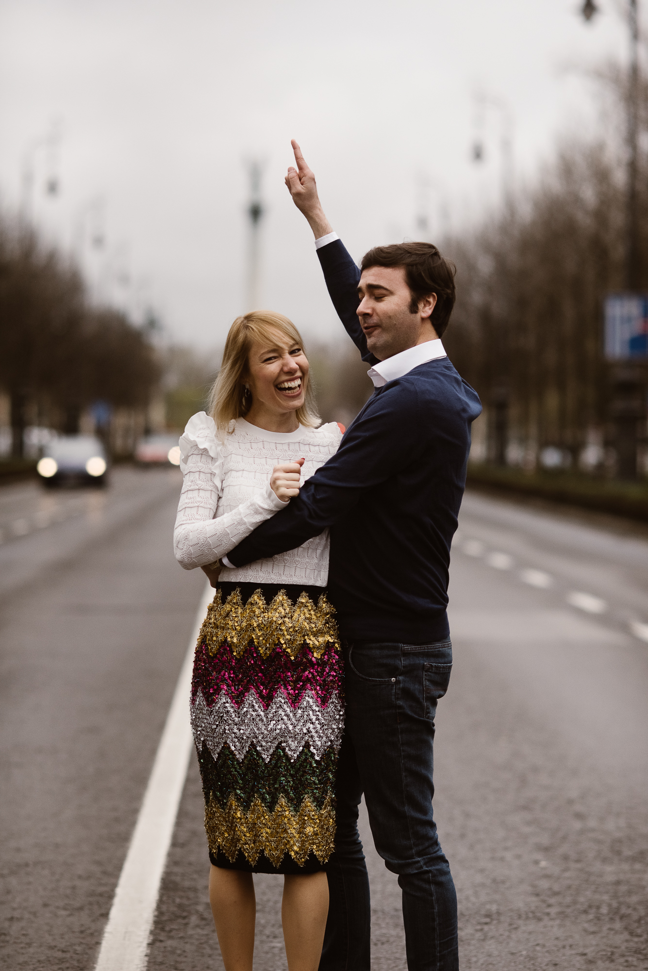 wedding photographer takes engagement photoshoot in the City Center Andrassy ut City Park Hosok tere | The Wedding Fox