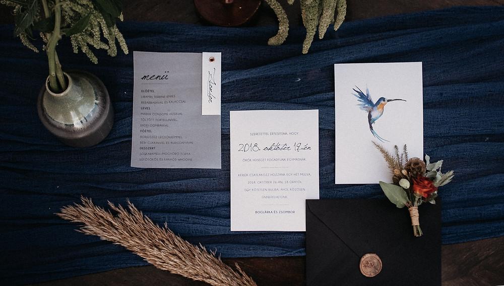wedding invitation wedding menu stamp rsvp