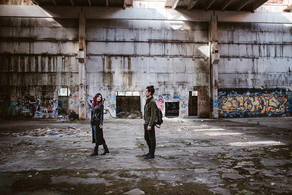 wild couple shoot on industrial location by The Wedding Fox International Wedding Photography