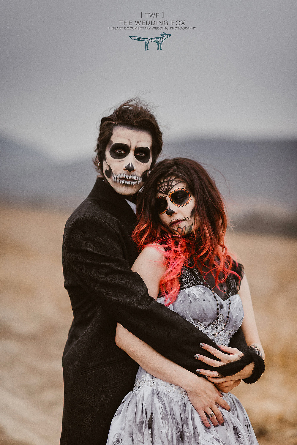 halloween inspired wedding styled shoot | themed weddings 100layercake