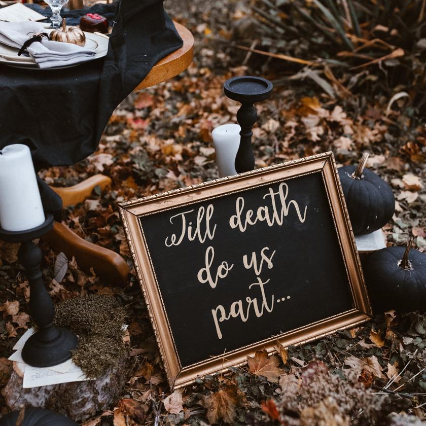 halloween inspired wedding styled shoot | bohobride @loveandwildhearts