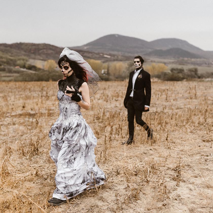 halloween inspired wedding styled shoot | junebugweddings