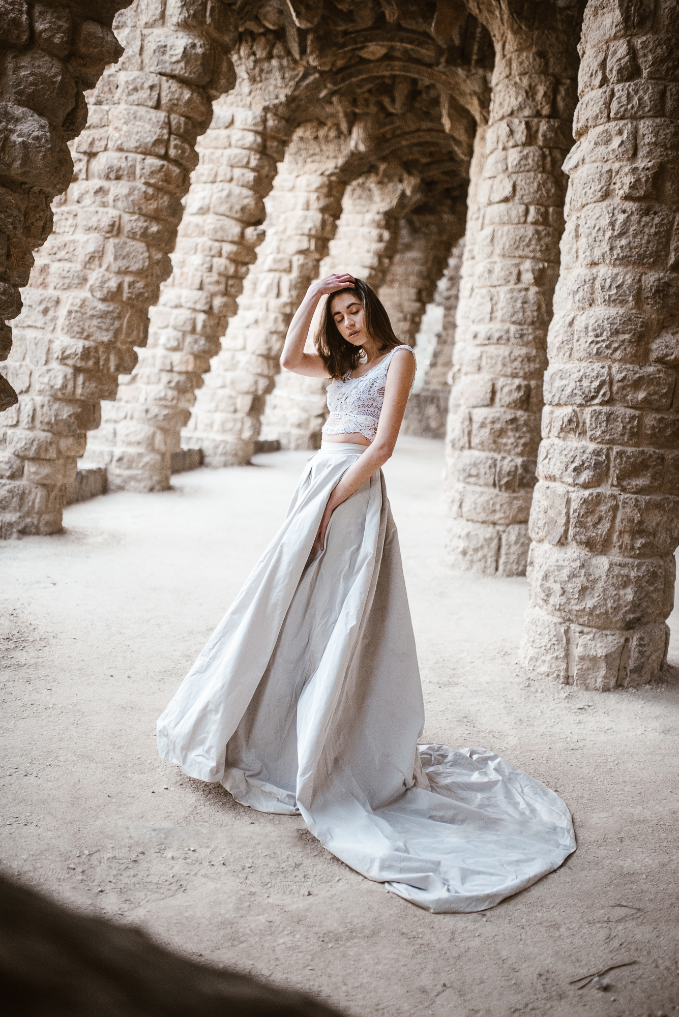 vintage wedding dress inspiration from the land of Pronovias in Güell Park | The Wedding Fox