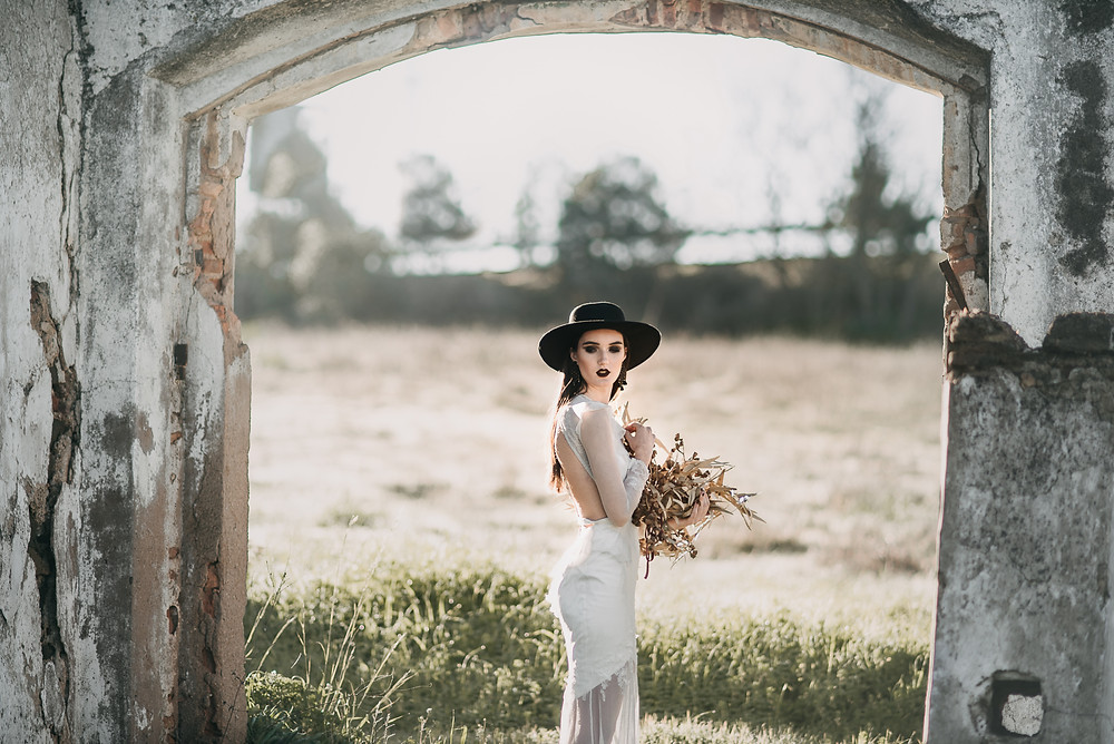 vinate wedding gown Nora Sarman by The Wedding Fox