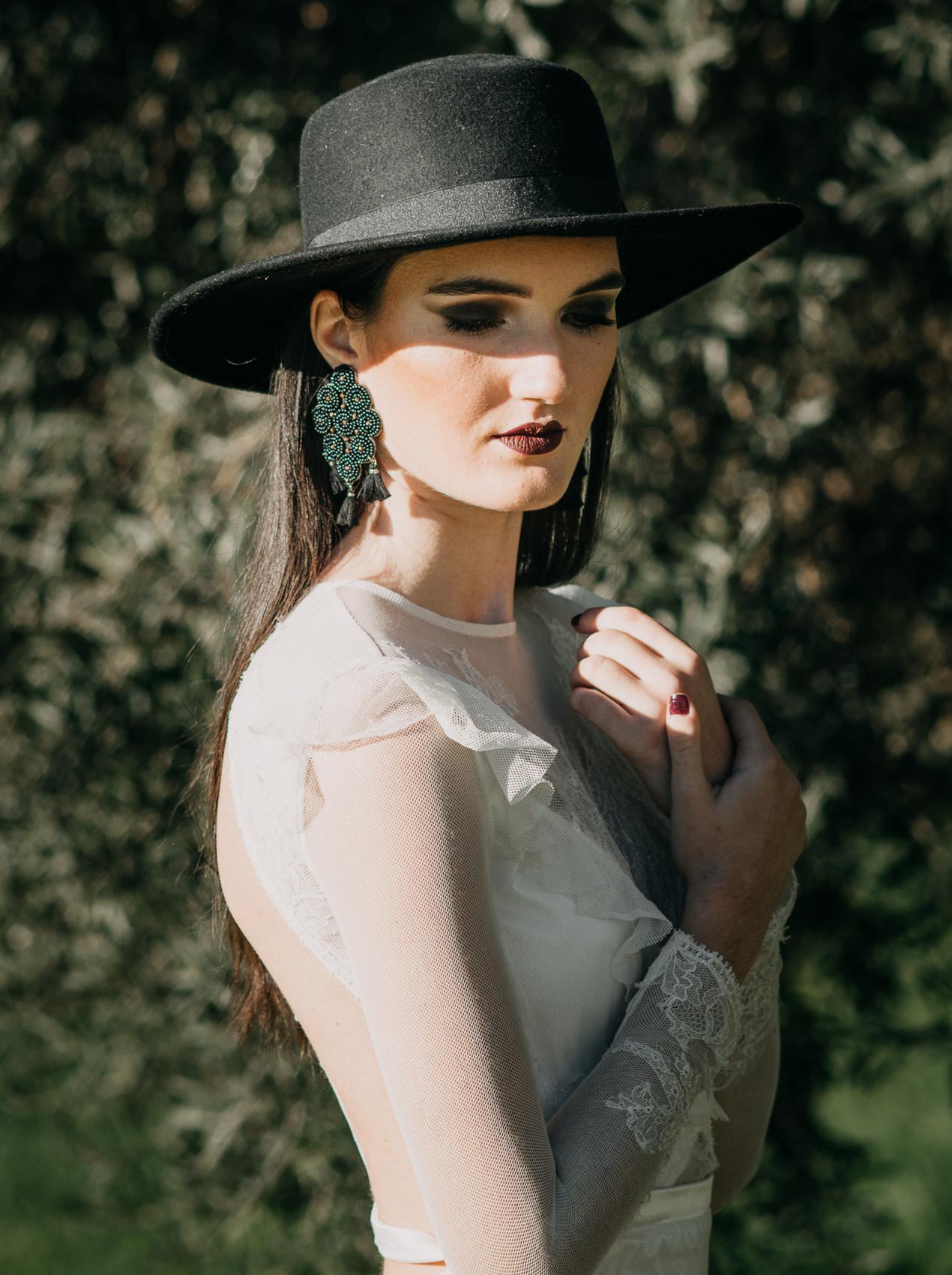 fine-art brie in Nora Sarman wedding gown by The Wedding Fox
