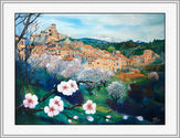 St. Jurs with Almond Trees - Provence
