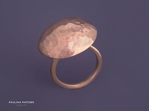 Pierścień disco ball M srebrny złocony
