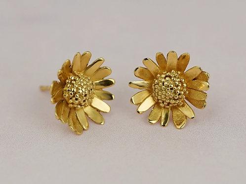 kolczyki BLOSSOM daisy gold