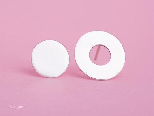 Kolczyki Balance asymetria koło i okrąg szeroki