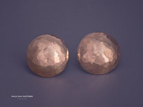 Kolczyki disco ball gold