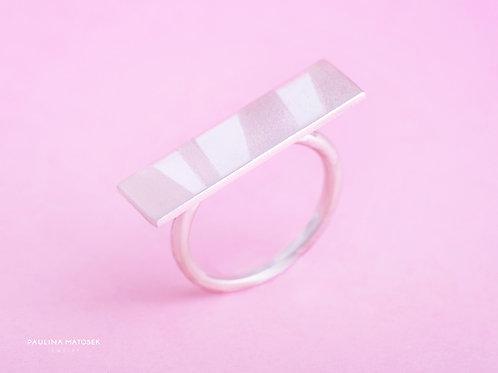 Pierścień BALANCE prostokąt satynowany