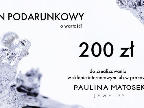 Bon upominkowy wartości 200 zł. - wersja cyfrowa