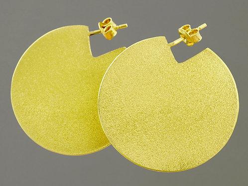 balance kolczyki symetria 34 koła 36 mm satin gold