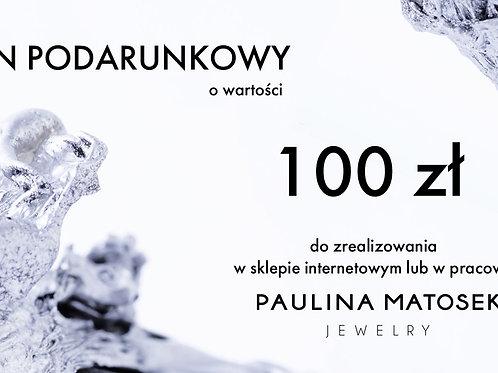 Bon podarunkowy wartości 100 zł.