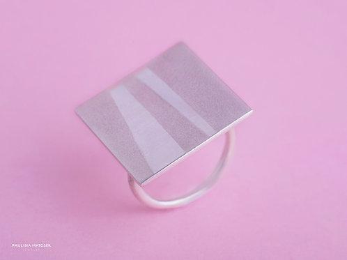 Pierścień balance kwadrat satynowany