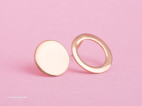 Kolczyki Balance koło i okrąg L gold
