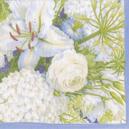White Blooms Napkins