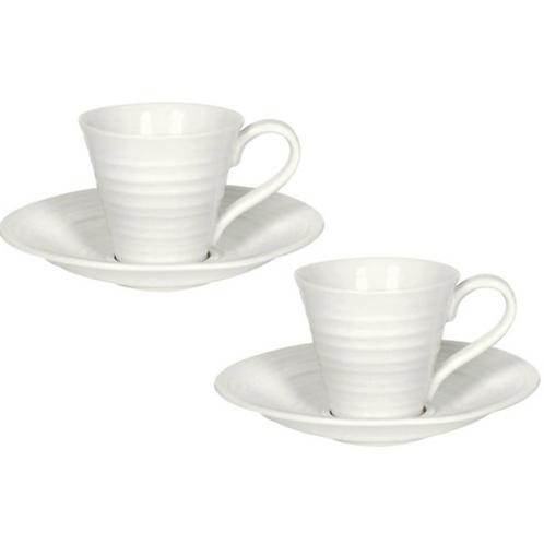 Sophie Conran for Portmeirion Espresso Cup and Saucer x 2